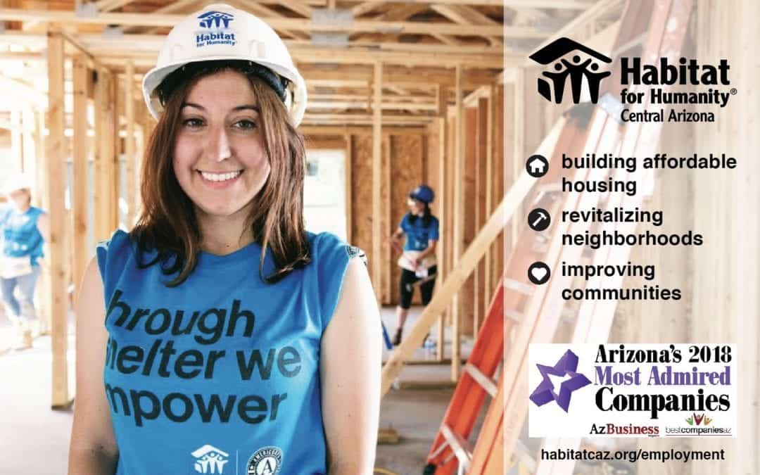 Habitat recognized as Most Admired Company for third consecutive year